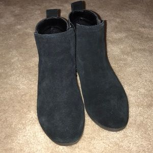 Size 5 suede booties. Worn once.